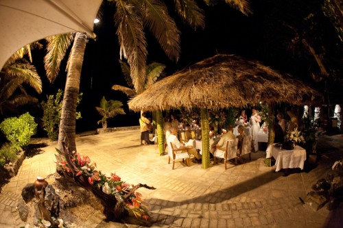Castaway Island Fiji Wedding Reception