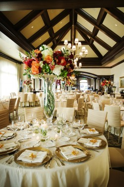 Champagne-Gold-and-Berry-Wedding-Reception