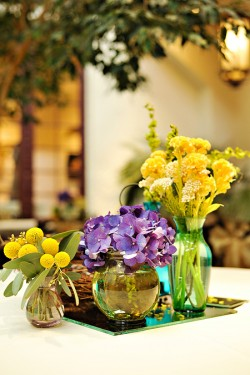Clustered Glass Centerpieces