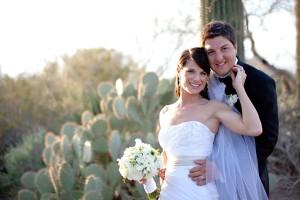 Desert Bride and Groom