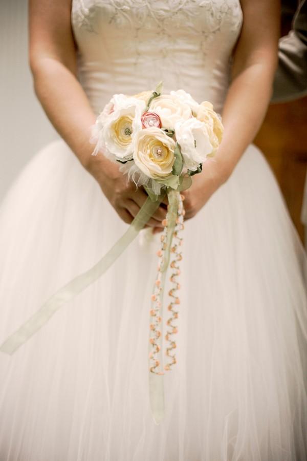 Fabric Flower Bouquet - Elizabeth Anne Designs: The Wedding Blog