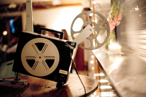 Film Screening Wedding Reception