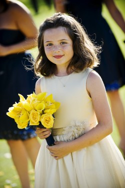 Flower-Girl-with-Yellow-Bouquet