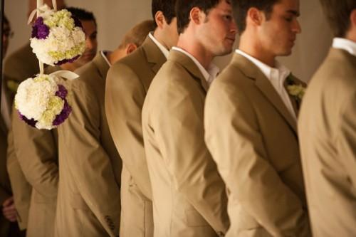 Groomsmen-in-Khaki-Suits