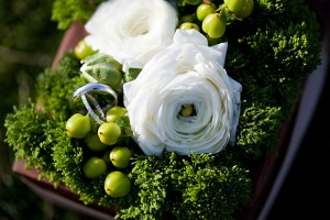 Peony-and-Evergreen-Square-Centerpiece