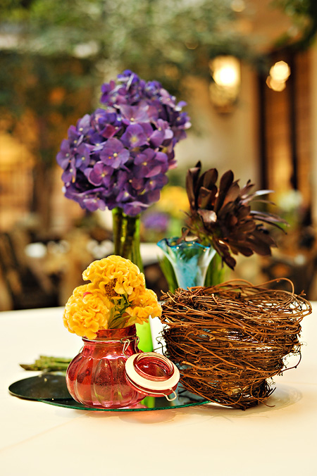 Purple yellow and red natural wedding decor elizabeth anne purple yellow and red natural wedding decor junglespirit Images