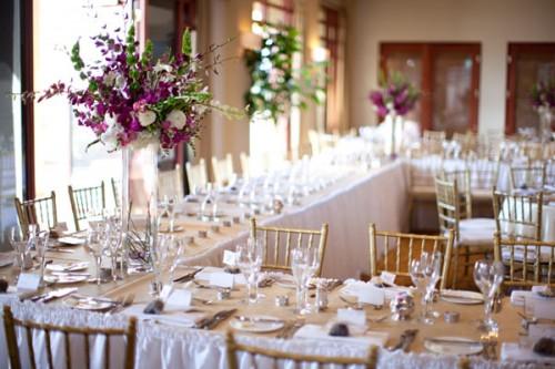 Purple And Gold Wedding Reception Elizabeth Anne Designs The