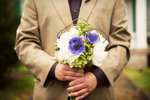 Purple-and-Green-Bouquet