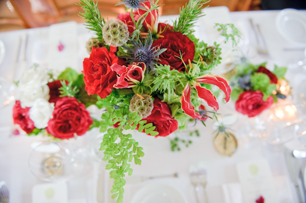 Red-and-Green-Garden-Centerpiece