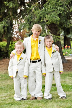 Ring bearers with Yellow Shirts