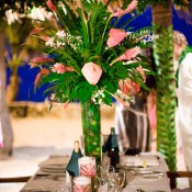 Tall-Pink-Tropical-Centerpieces