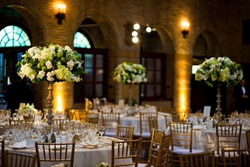 Tall-White-and-Green-Centerpieces