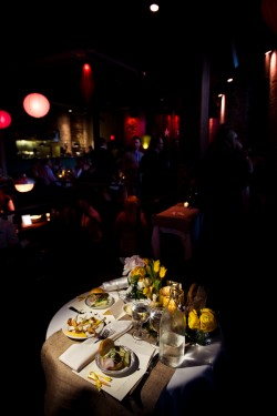 Yellow-and-Burlap-Wedding-Table