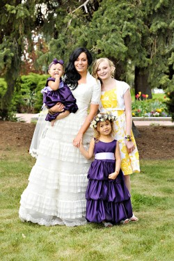 Yellow and Purple Bridal Party