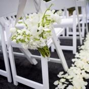 Aisle-Chair-Flower-Posies-Wedding