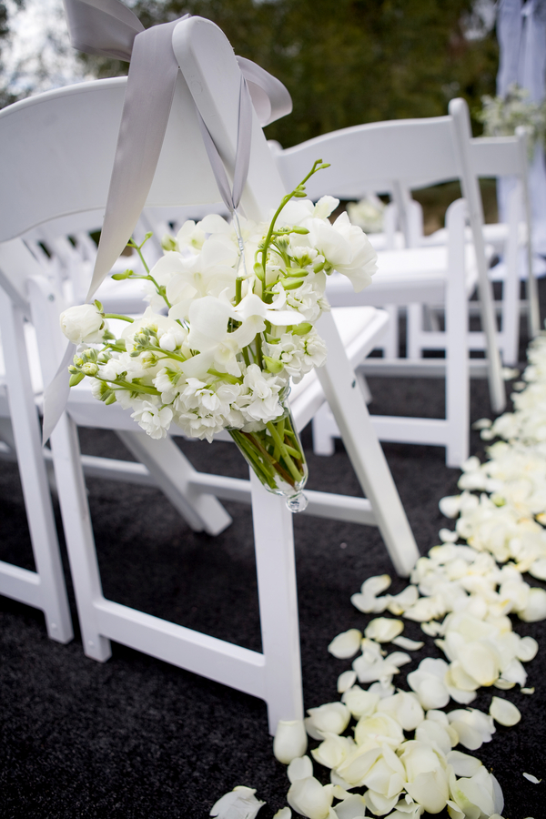 Aisle Chair Flower Posies Wedding Elizabeth Anne Designs The
