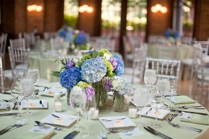 Blue-and-Green-Centerpiece