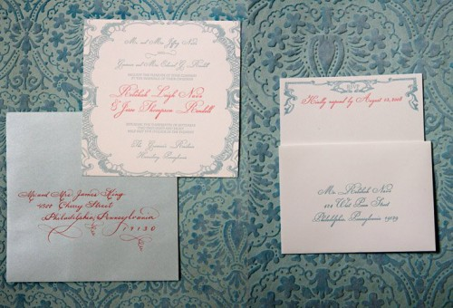 Blue-and-Red-Letterpress-Wedding-Invitations