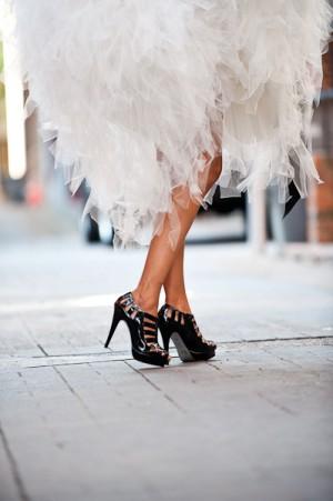 Bride-in-Edgy-Black-Heels