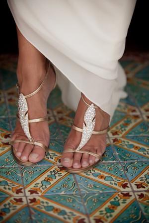 Bride in Grecian Gown