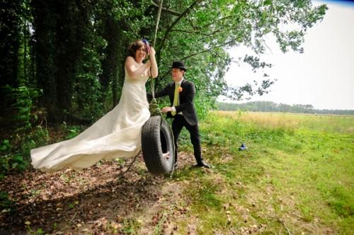 Bride-on-Tire-Swing