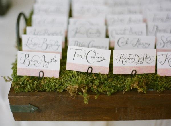 CalligraphyWeddingEscortCards Elizabeth Anne Designs The