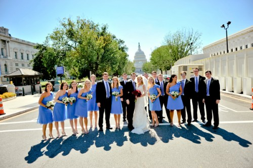 Cornflower-Blue-Bridesmaids-Dresses