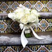 Cream-Rose-Handtied-Bouquet