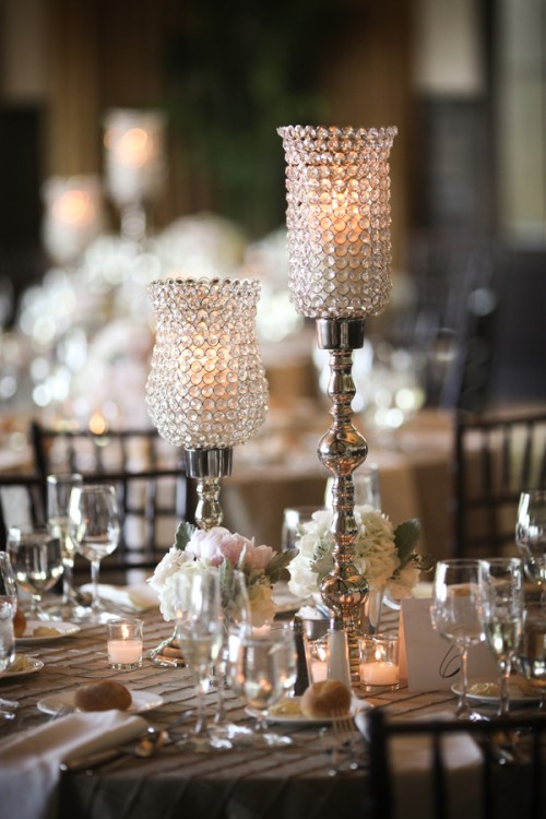 Crystal And Silver Candle Centerpiece Elizabeth Anne