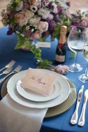 Elegant Purple and Green-Wedding Table