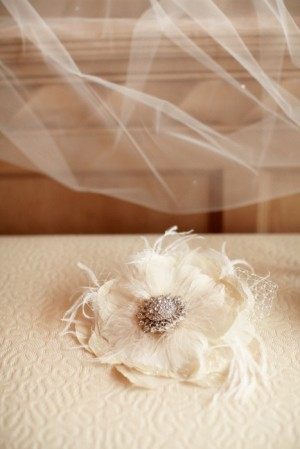 Feather and Diamond Headpiece