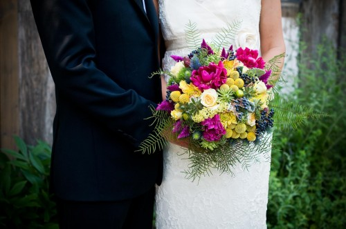 Fern-and-Purple-Bride-Bouquet
