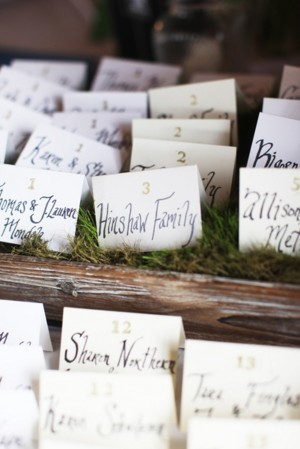 Grass-Escort-Card-Display