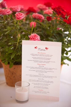 diy wedding menu