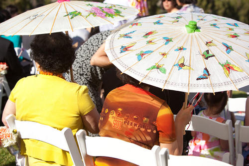 wedding ceremony parasols