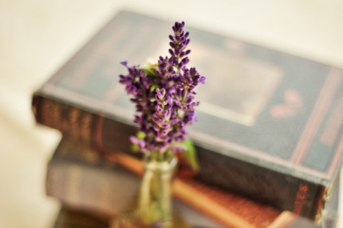 Lavendar-and-Vintage-Book-Centerpiece
