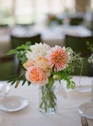 Pink Peach Wedding Flowers 1