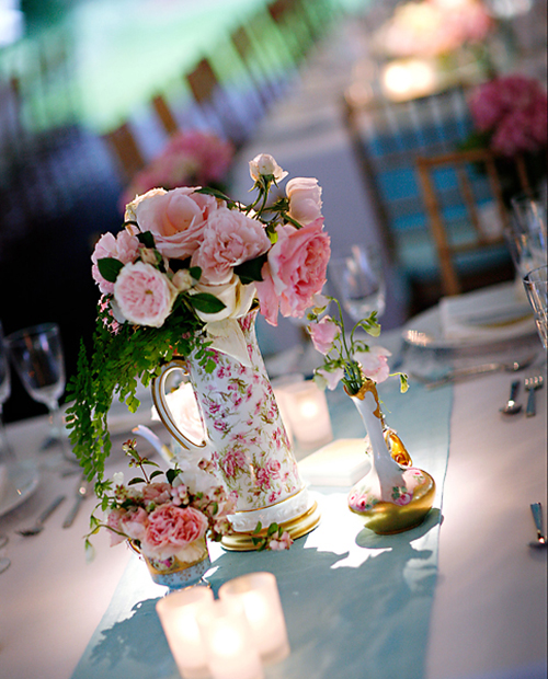 Pink-and-Gold-Vintage-Centerpiece