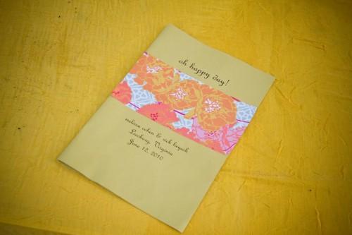 Pink-and-Orange-Wedding-Band-Program
