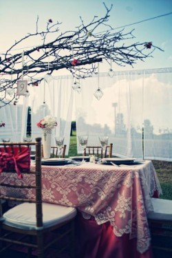 Pink-and-White-Lace-Table-Linens