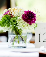 Purple-Green-and-White-Centerpiece