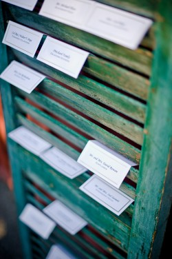 Rustic-Shutter-Escort-Card-Display