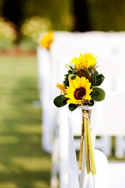 Sunflower-Aisle-Decor