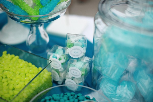 Turquoise and Green Candy Buffet