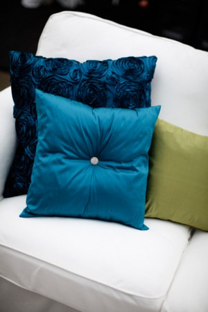 Turquoise and Green Wedding Pillows