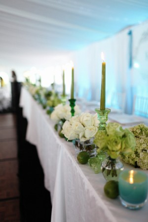 Turquose and Green Wedding