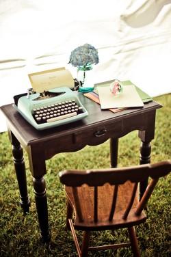 Typewriter-Desk-Guest-Book