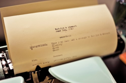 Typewriter-Guest-Book