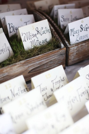 Vintage-Escort-Card-Display
