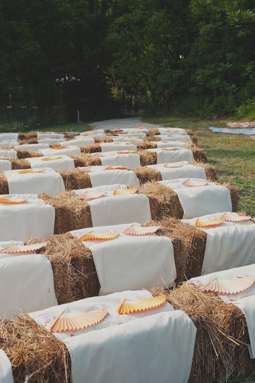 Wedding-Ceremony-Seating-Hay-Bales - Elizabeth Anne Designs: The ...
